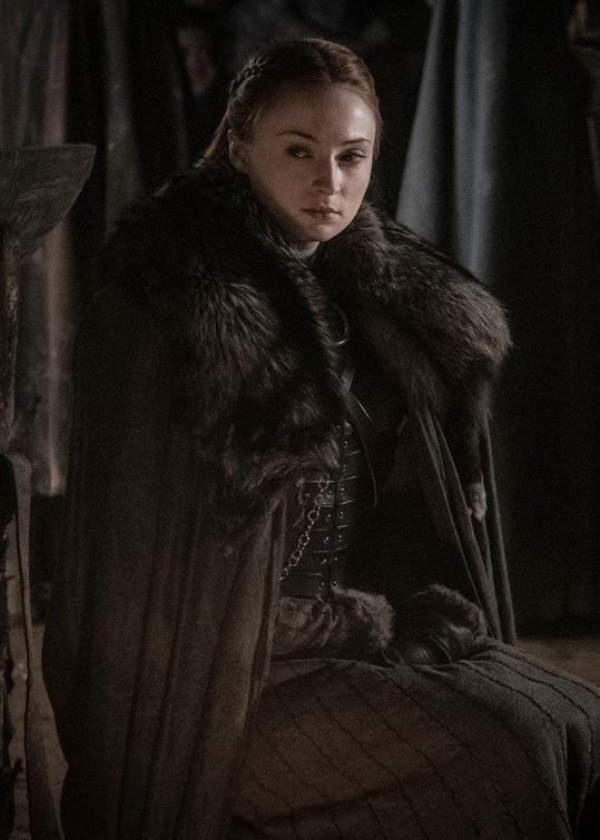 Sophie jako Sansa Stark v seriálu Hra o trůny