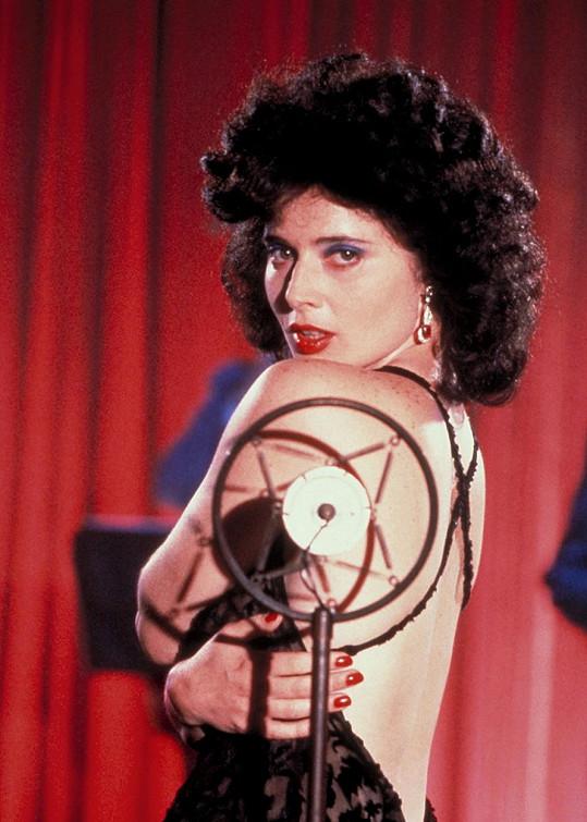 Isabella Rosselini ve filmu Modrý samet (1986)