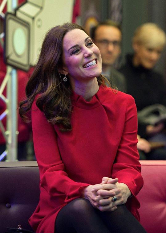 Na akci rozdávala úsměvy.