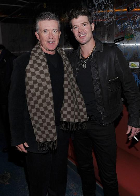 Alan se synem Robinem