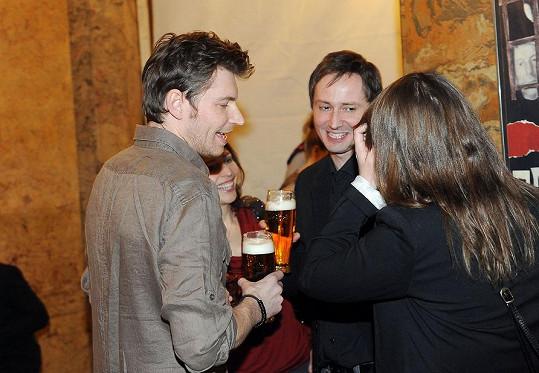 David Švehlík se bavil u piva.