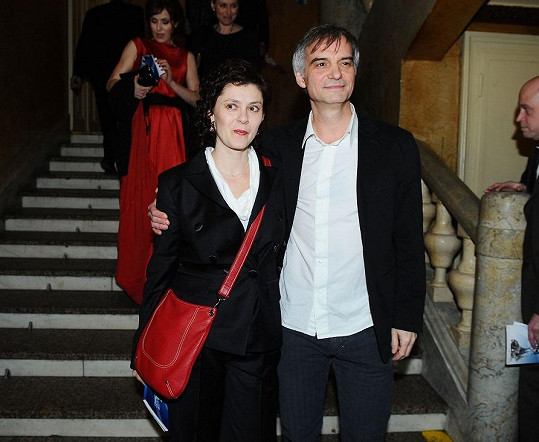 Ivan Trojan s manželkou Klárou.
