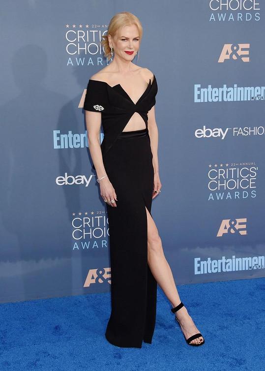 Nicole Kidman na udílení Critics´ Choice Awards