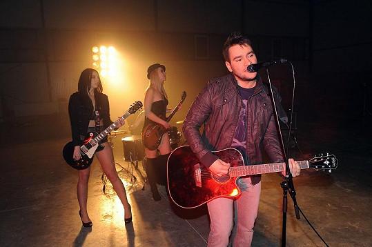 Marek Ztracený během natáčení klipu.