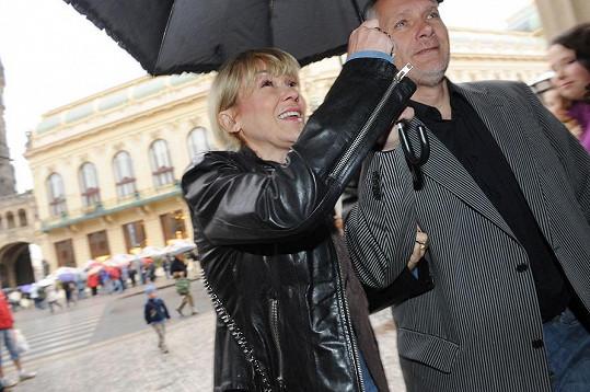 Kateřina Herčíková s manželem.