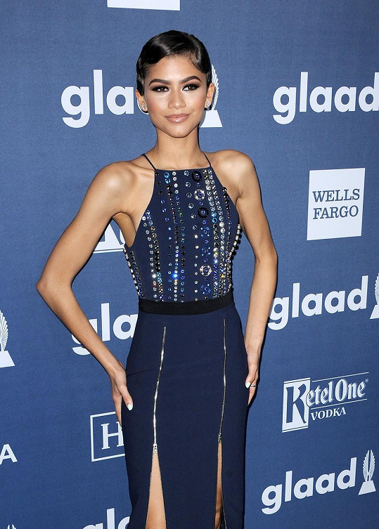 Zendaya na udílení GLAAD Media Awards