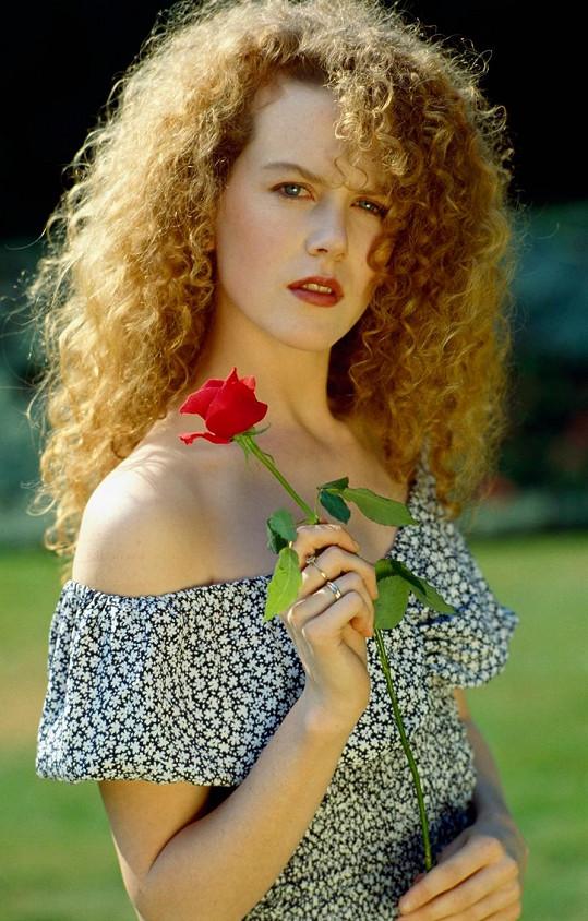 Tohle jsou přirozené kadeře Nicole Kidman.