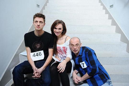 Ondřej Ruml, Kamila Nývltová a Tomáš Trapl na konkurzu.