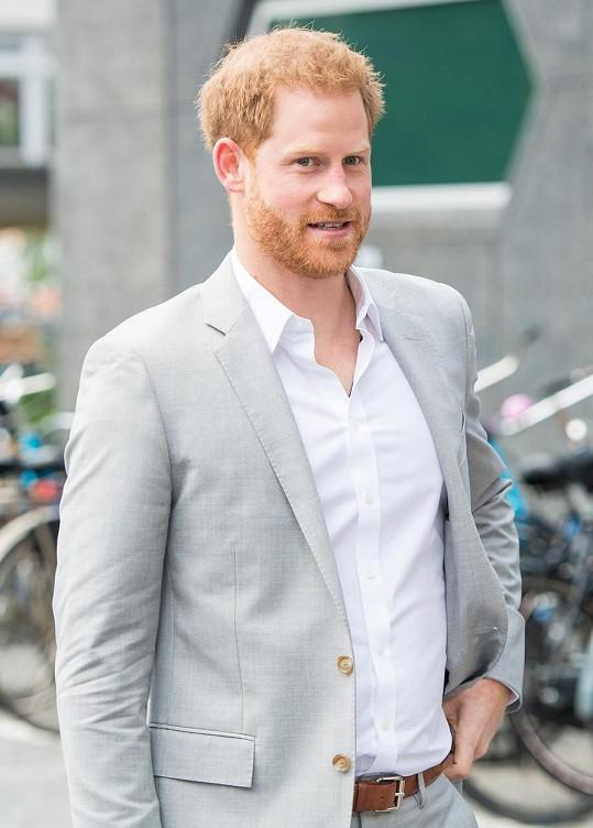 Princ Harry přiletěl do Nizozemska podpořit projekt Travalys.