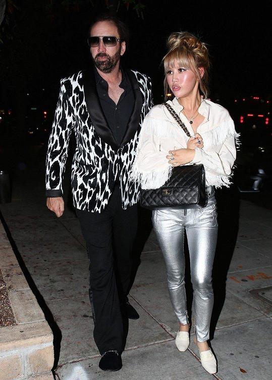 Nicolas Cage s nyní již exmanželkou Erikou Koike