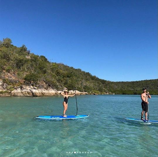 Došlo i na paddleboarding.