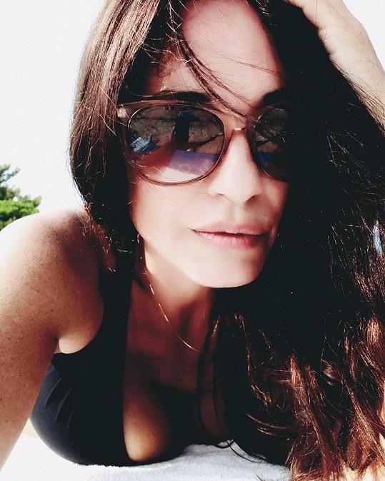Michaela Kuklová a její sexy póza.