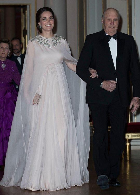 Kate s norským králem Haraldem V.