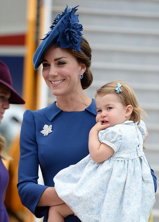 Princezna Charlotte je na zahraniční cestě poprvé.