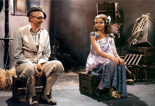 Miroslava Pleštilová s Miroslavem Vladykou v pohádce O kouzelnici Klotýnce (1988)