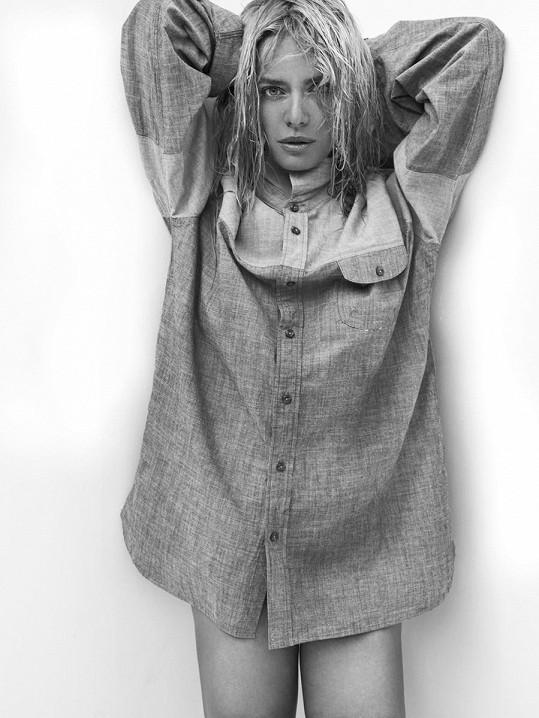 Taťána jako modelka ve světě boduje.
