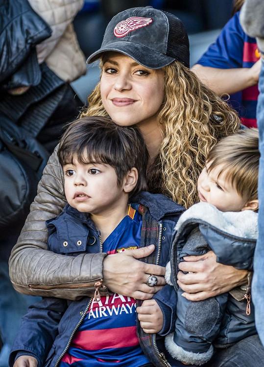 Shakira sledovala zápas svého partnera, který je hvězdou klubu FC Barcelona