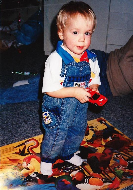 Tomáš Materna v době, kdy mu byl pouhý jeden rok.