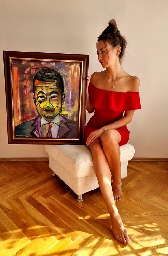 Lucie Gelemová chystá výstavu obrazů předních politiků.