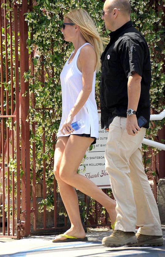 Gwyneth se udržuje ve formě běháním.