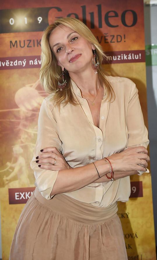 Ivana Chýlková na tiskové konferenci k návratu muzikálu Galileo