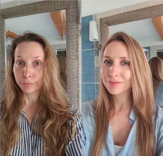 Nebála se ukázat veřejnosti, jak vypadá po probuzení bez make-upu.