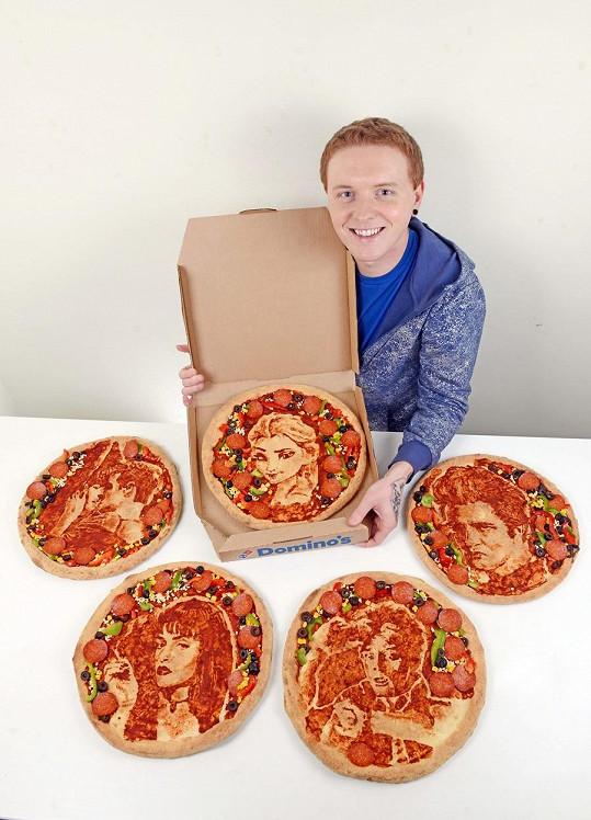 Nathan Wyburn vytváří filmové pizzy.