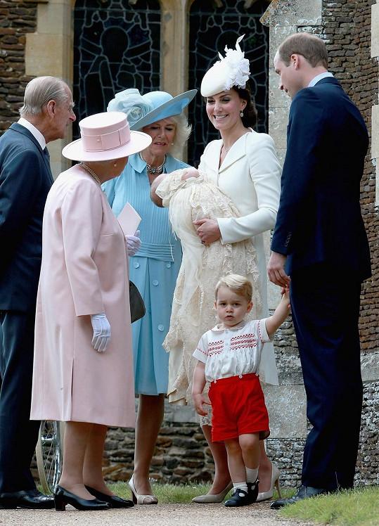 Křtin se zúčastnila celá královská rodina.