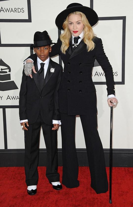 Madonna se synem Davidem na Grammy