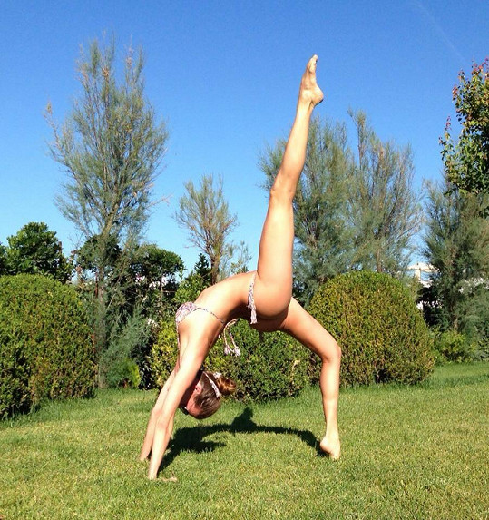 Andrea Verešová je už zkušenou jogínkou.