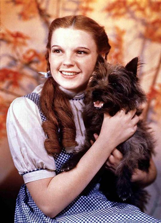 Judy Garland jako Dorotka v Čaroději ze země Oz, role, která z ní udělala hvězdu Hollywoodu.