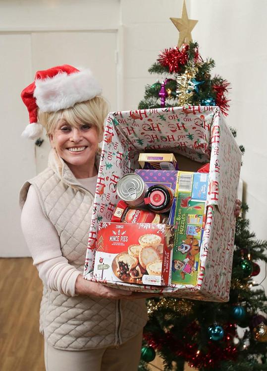 Herečka letos zaštiťovala dobročinnou vánoční sbírku pro děti.