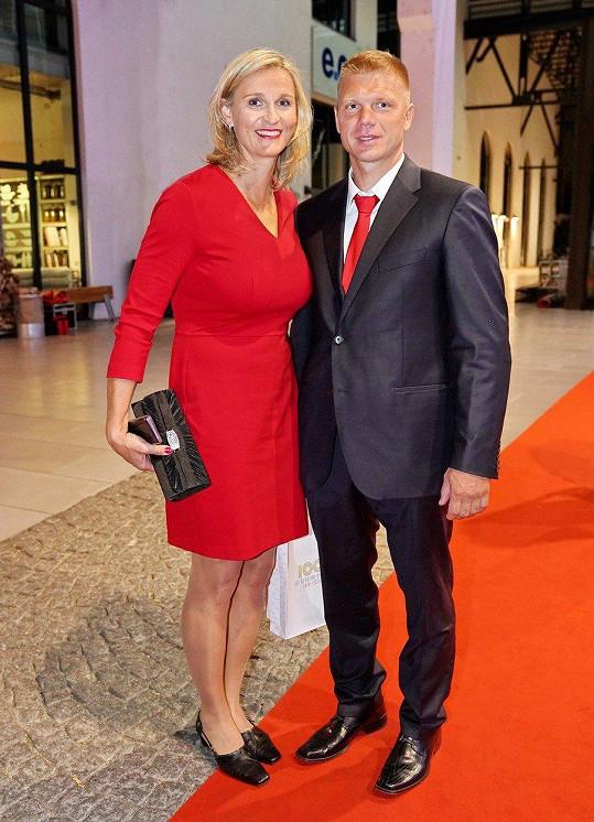 Oštěpařka Barbora Špotáková s partnerem Lukášem Novotným
