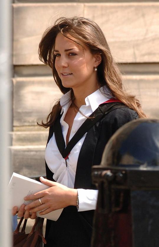 Kate v době studií na univerzitě