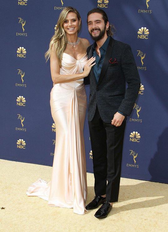 Heidi Klum doprovodil přítel Tom Kaulitz.