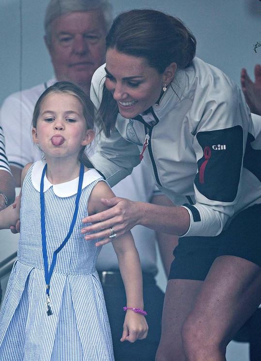 Princezna na snímku s vévodkyní Kate (srpen 2019)