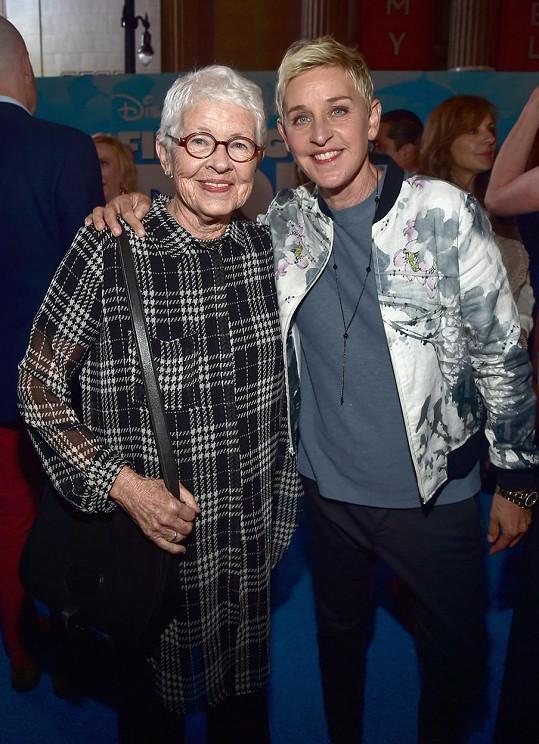 Ellen DeGeneres s maminkou Betty, která letos oslavila 90. narozeniny.
