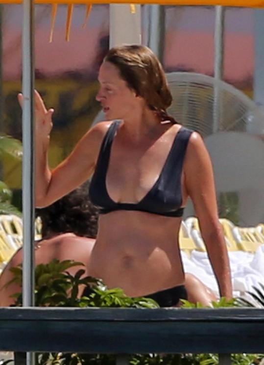 Na Miami strávila dovolenou se svou rodinou.