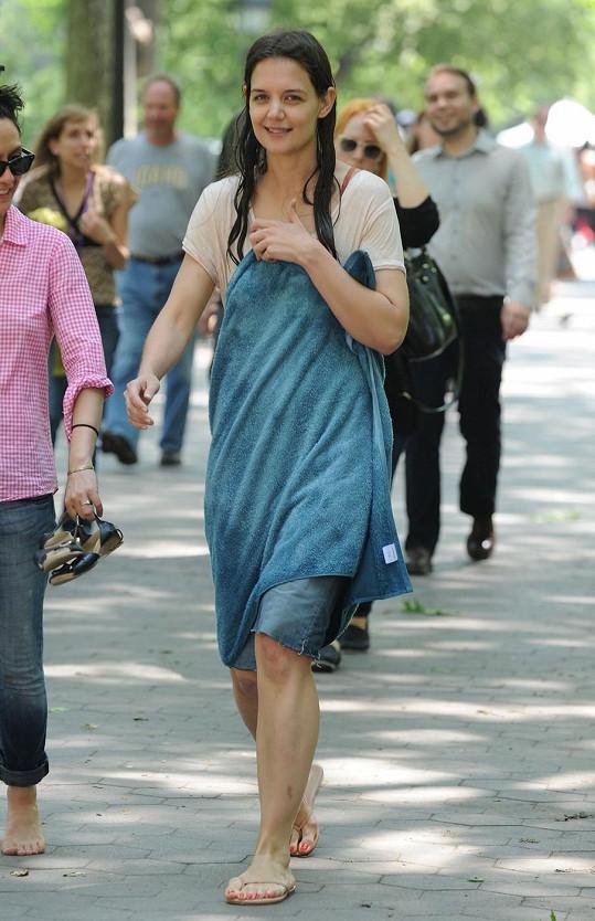 Americká herečka během natáčení filmu Mania Days