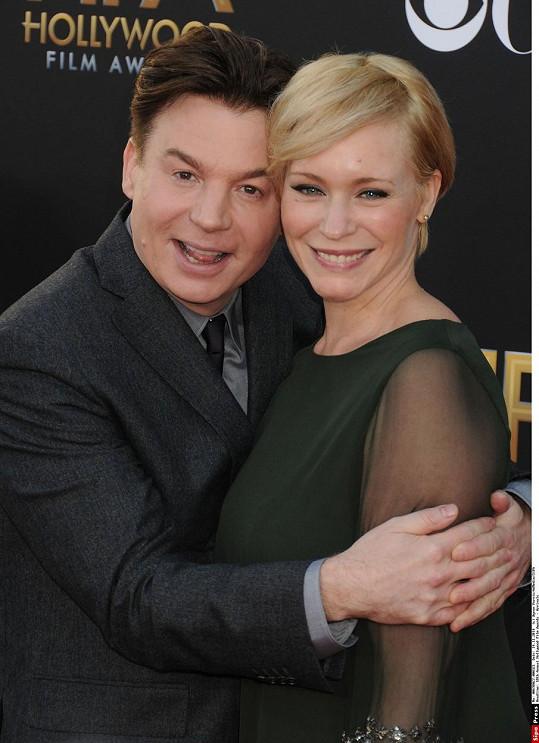 Mike Myers s manželkou Kelly Tisdale