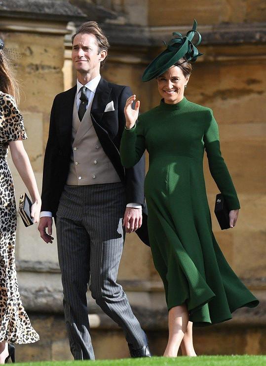 Pippa a James byli v pátek hosty svatby princezny Eugenie.