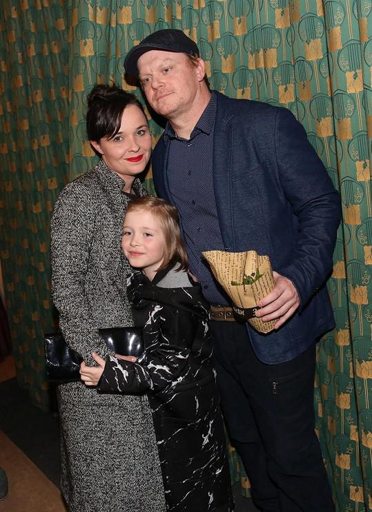 David Novotný s manželkou a dcerou