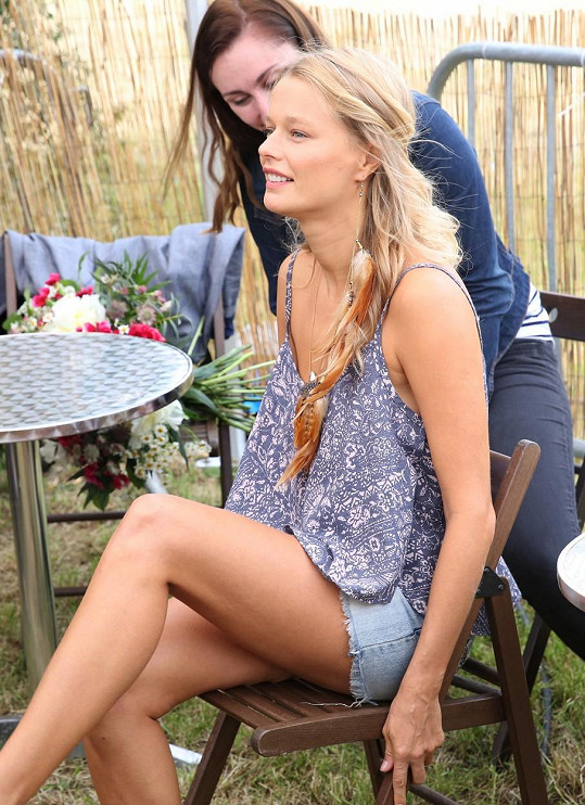 Helena Houdová během své poslední návštěvy Česka. Modelka se stala hlavní hvězdou RawFestu.