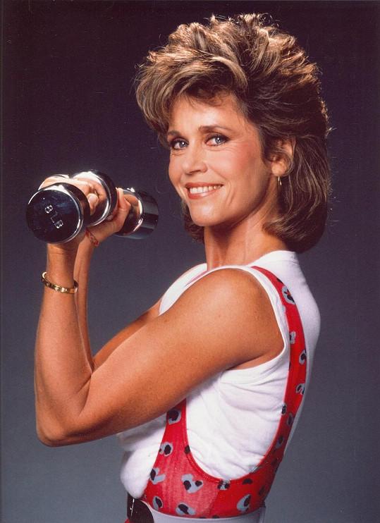 Fonda natočila úspěšnou sérii videokazet s cvičením na doma.