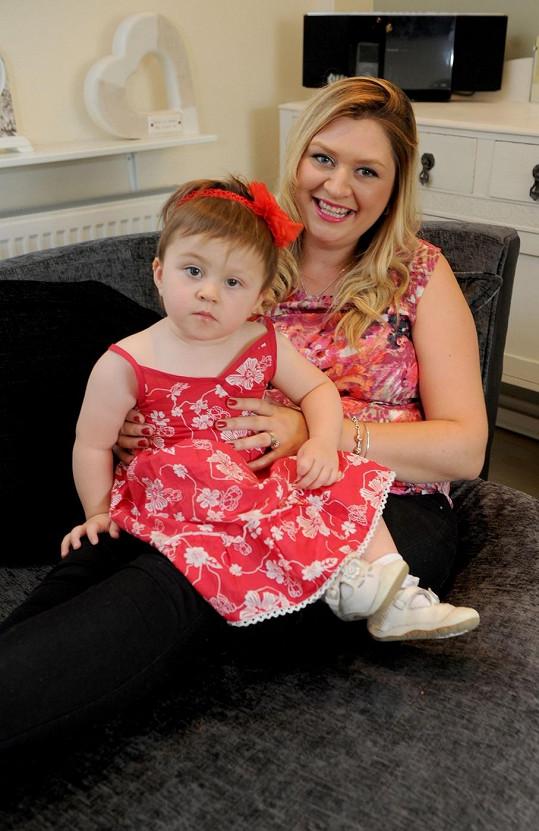Lara Carpenter-Beck se svou dcerou Savannah