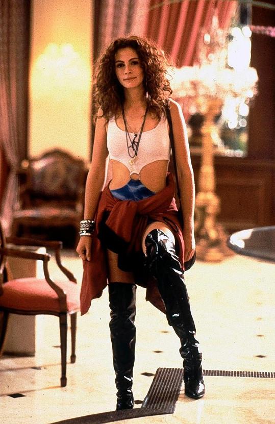 Julia Roberts ve filmu Pretty Woman (1990)