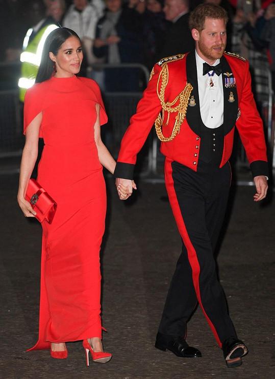 Vévodkyně se s manželem barevně sladila.