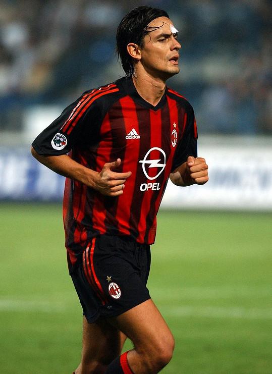 Claudia má pro fotbalisty slabost. Jejím vyvoleným byl i Filippo Inzaghi (snímek z roku 2002).
