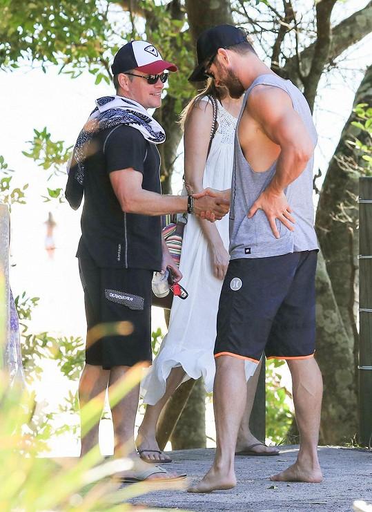 Chris Hemsworth s Mattem Damonem