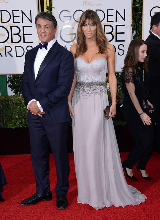 Sylvester Stallone s manželkou Jennifer Flavin